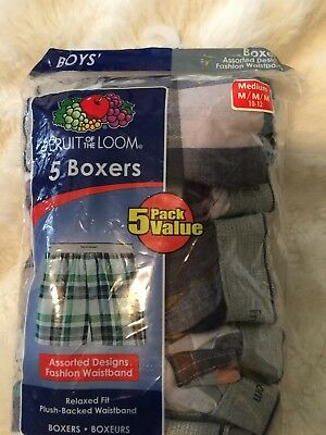 New In Package 5 Pairs If Boys Boxers M Medium 10-12 10 12