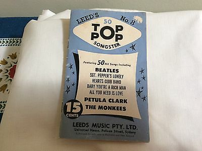 c1960s Leeds No.8 Top Pop Songster music book featuring the Beatles