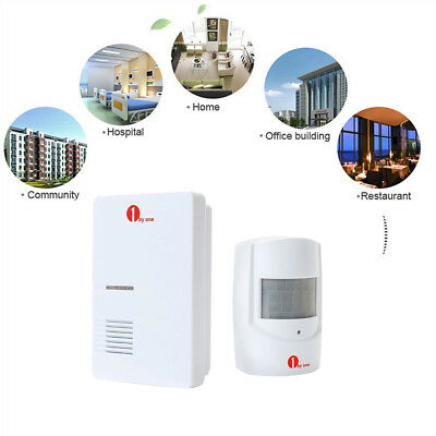 1Byone AU Plug Wireless Door Bell Chime Driveway Detector Alarm System Home Safe