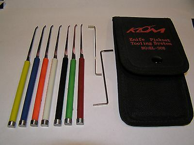 KLOM Steel Knife Pickset Lock Picking 9 Piece Set