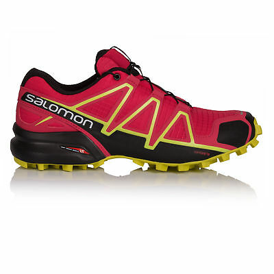 Salomon Speedcross 4 Womens Pink Trail Running Road Sports Shoes Trainers