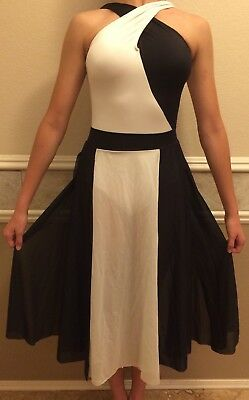 Black and White Women's Dance Costume Size Small