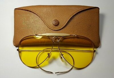 Vintage B&L Ray Ban Bausch & Lomb 1/10 12k GF Shooters Kalichrome Yellow 62mm