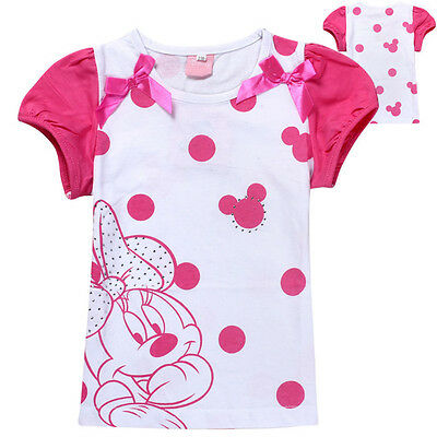 Girls Minnie Mouse tee t-shirt top 100% cotton size 1-8 new AU stock xmas