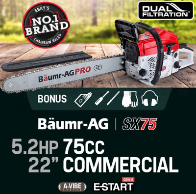 """22"""" Easy Start Pro 75cc Petrol Chainsaw Tree Pruning Multi Pro-Series Chainsaw"""