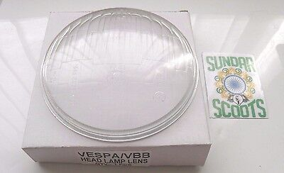 Replacement Headlight Glass Lens - Siem Marked - Suitable For Vespa Vbb Scooters