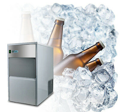 Built-In Stainless Steel Commercial Ice Cube Maker Machine Restaurant 55lb/Day