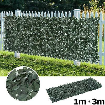 Ivy Leaf Hedge Artificial Fencing Screening on Trellis extendable Hedge Cover