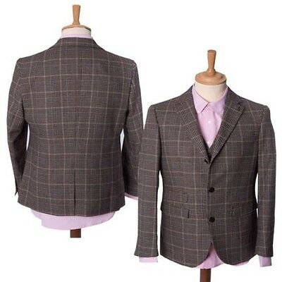 Mens Vintage Checked Dogtooth 3 Button Tailored Jacket Blazer By Gabicci 36-44