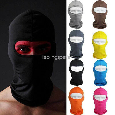 New Outdoor Motorcycle Full Face Mask Lycra Balaclava Ski Sun UV Neck Protection