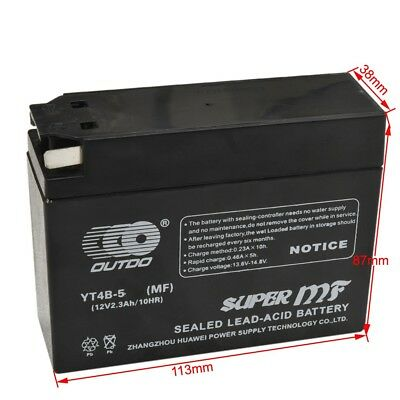 YT4B-BS High Performance - Sealed AGM Motorcycle Battery for 2007 Yamaha TTR 50E
