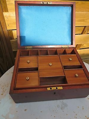 C19th Mahogany Fitted Work Sewing Box