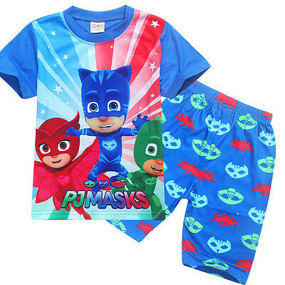 PJ MASKS boy tee top and pants set pjs pyjamas size 2-6 xmas kids clothing