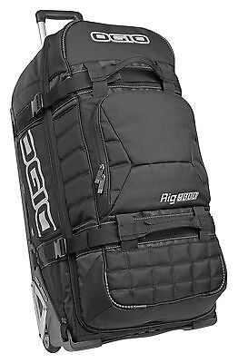New Ogio Moto Rig 9800 Black Wheeled Kit Gear Bag Enduro Travel Motocross Ski
