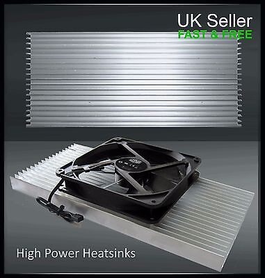 Aluminium 300mm 10W to 100W Heat Sink for High Power LEDs Grow light Aquariums