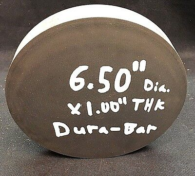 "DURA-BAR GRAY CAST IRON - G2 AS-CAST RD 6.50"" DIA.  x 1"" THK"