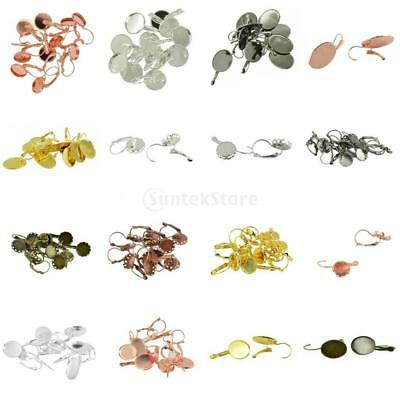 12pcs MagiDeal French Leverback Earring Wire Round/Oval Setting DIY Jewelry