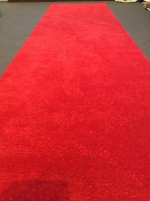 """""""Walk The Red Carpet""""..Red Carpet Runner 1m By 3.6m"""