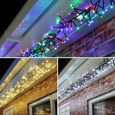 24V Connectable Outdoor Christmas Cluster LED Fairy String Lights | Garden Home