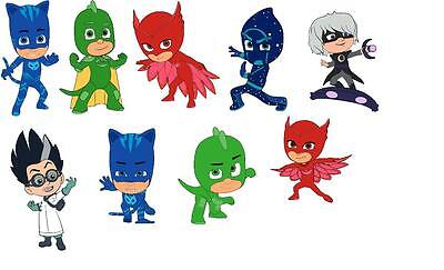 9 Pj Mask Pj Masks  Photo Paper  Wall Stickers 3 Sizes A6 A5 A4