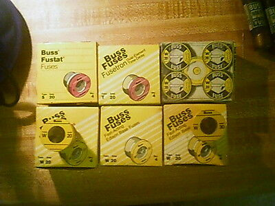 BUSSMAN House Fuse's Miscellaneous,  New In Box W20 -S20,T20,W30