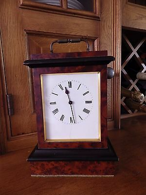 Large French Carriage Clock In A Solid Walnut/Ebony Case Circl 1860s Stunning