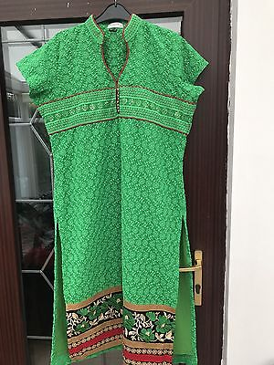 Kurta Kurti Ladies Women Pakistani Indian Maysa Summer Ethnic 18 XXL Shirt Green