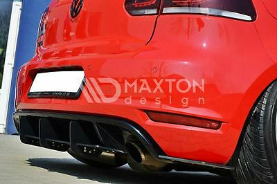 VW Golf MK6 6 GTI Low Rear Bumper Diffuser Spoiler Lip Valance Side Splitter