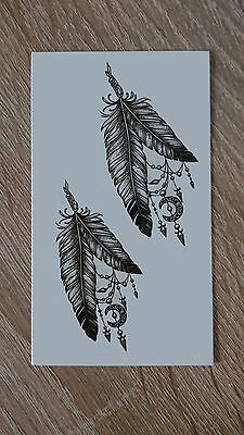 10x6cm Sheet-High-Quality-Fake-Tatto-Party-Feather-Waterproof-Temporary-Body-Art