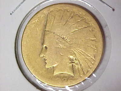 1926 Indian $10 Gold Eagle Coin Pre-1933 Gold - Lowball Coin
