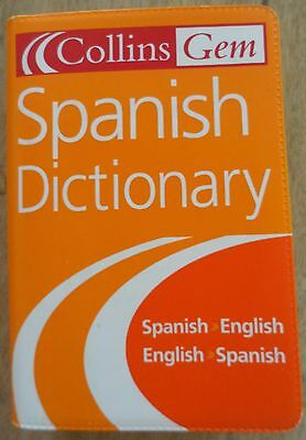 Spanish Dictionary Collins Gem Pocket Book Holiday Makers Students