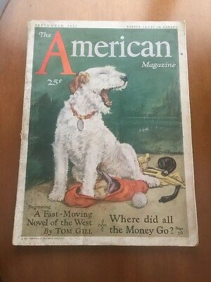 American Magazine  Sep 1932 Cover By Diana Thorne