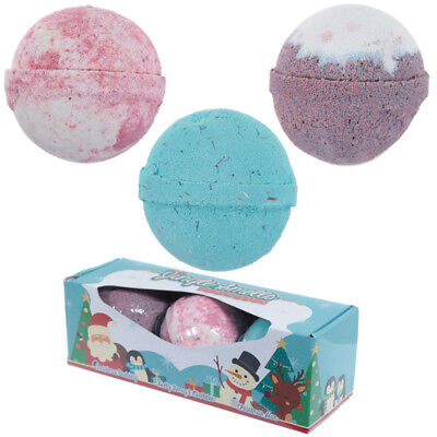 Handmade Bath Bomb Set Of 3 Christmas Fragrances In Gift Box/LUSH