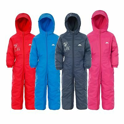 Trespass Dripdrop Boys Girls Waterproof Breathable Padded All In One Rain Suit