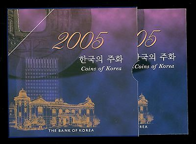 2005 Korean Mint Set Coins Of Korea BOK Official Bank Issue Low Mintage