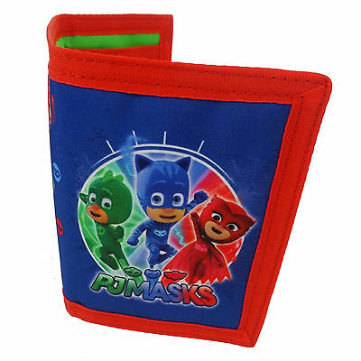PJ Masks | Catboy | Owlette Tri-Fold Wallet | Purse with Coin Zip Compartment