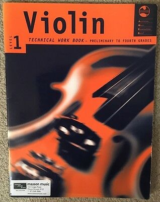 AMEB Violin Technical Work Book Level 1 Preliminary to Fouth Grades