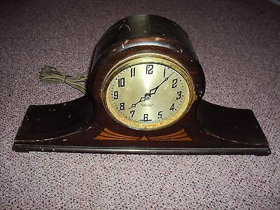 Vintage New Haven Clock Co Elm City Electric Mantel Clock Working