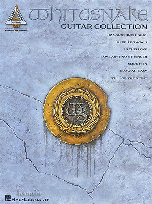 Whitesnake Guitar Collection Recorded Versions TAB Music Book