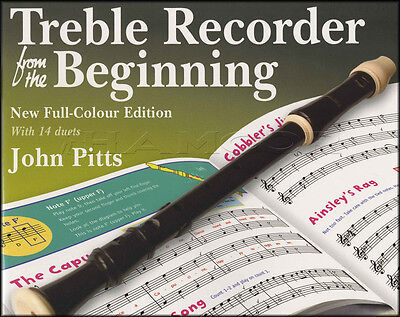 Treble Recorder from the Beginning Sheet Music Book Learn How To Play Method