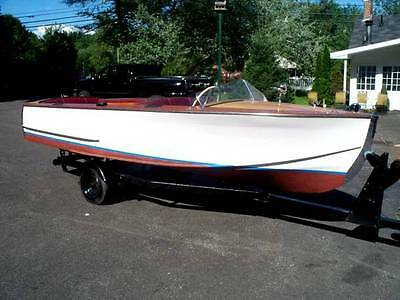 1949 16 ft Century Deluxe Utility  wooden runabout