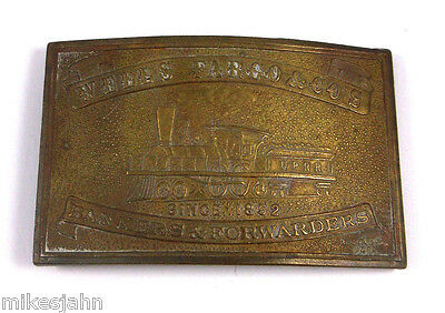 Wells Fargo Co Banker Chicopee Quality Surveyors Dept Vintage Belt Buckle oo36