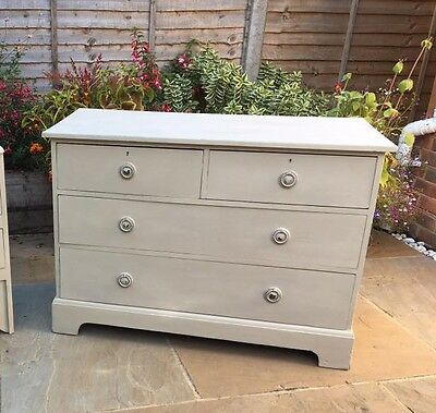 Vintage Oak Chest of Drawers - Shabby Chic
