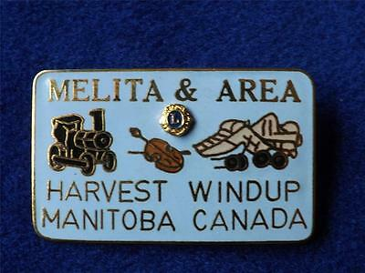 Lions Club International Melita Harvest Windup Manitoba Canada Pin Train Tractor