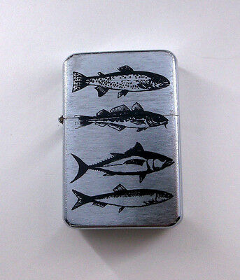 Four Different Types of Fish Wind Proof Oil Flip Lighter bb