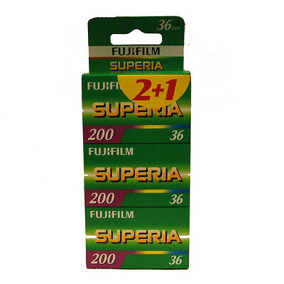 Fuji Superia 200 36exp Film 3 Pack