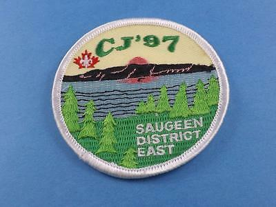 Boy Scouts Scouts Saugeen District East Cj'97 Patch Vintage Collector Badge