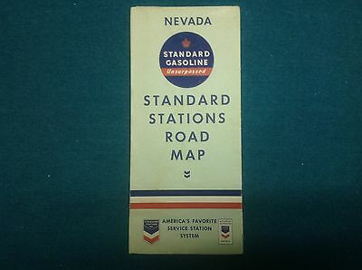 1937 Standard Gas/RPM Oil Highway Map-Nevada (great condition)