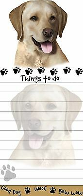 Yellow Lab Dog Magnetic Grocery List Pad Sticky Notes Magnet Refrigerater