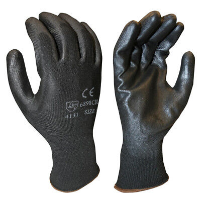 Cordova 6898CB  Black Palm Coating & Polyester Shell Glove Size Small (12 Pair)